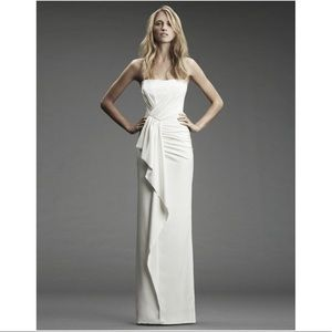 Nicole Miller Strapless Wedding Gown SZ 10 Ruffle